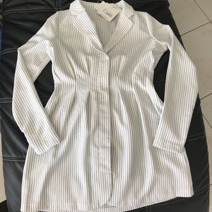 New Beautiful white with black strips dress!